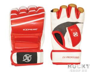 Детские перчатки для MMA FIGHT EXPERT, красно-белые  Flamma