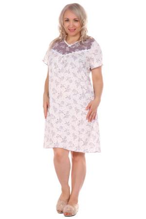 Жен. сорочка арт. 16-0320 Молочный р. 48 ЕленаТекс