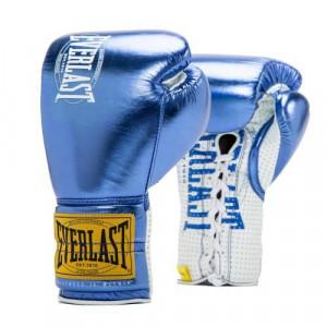 Боевые перчатки Everlast 1910 Classic Metallic Blue, 10 oz Everlast