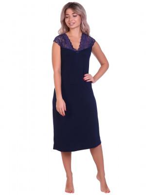 Жен. сорочка арт. 16-0698 Темно-синий р. 52 НСД Трикотаж
