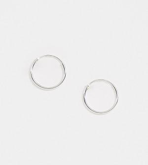 Эксклюзивные серьги-кольца диаметром 12 мм из стерлингового серебра Kingsley Ryan-Серебряный