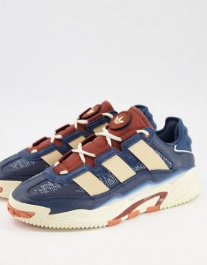 Темно-синие кроссовки adidas Originals Niteball-Темно-синий