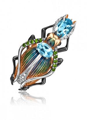 Броши PLATINA Jewelry 04-0216-00-713-1110-57 Платина Кострома
