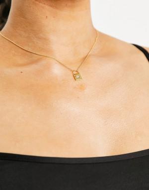 Золотистое ожерелье с подвеской-замочком Saint Lola-Золотистый