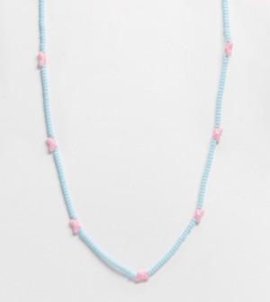Ожерелье с бусинками в форме бабочек ASOS DESIGN Curve-Многоцветный ASOS Curve