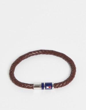 Мужской кожаный браслет коричневого цвета с магнитной застежкой Tommy Hilfiger 2790295-Коричневый цвет