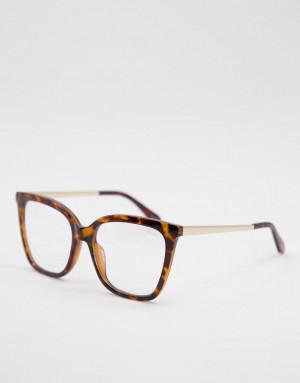 Женские очки с защитой от синего излучения в коричневой оправе Quay Video On-Коричневый цвет Quay Australia