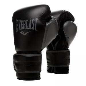 Перчатки тренировочные Everlast Powerlock PU 2 Black/Grey, 14 oz Everlast