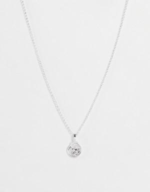 Серебристое ожерелье с небольшой подвеской Chained & Able-Серебристый