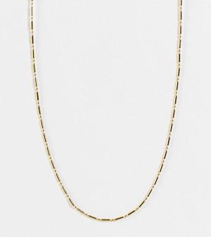 Позолоченное ожерелье-цепочка длиной 15дюймов с пластинками и бусинами Orelia-Золотистый