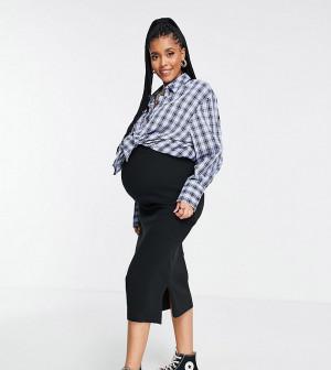 Юбка миди черного цвета Cotton:On Maternity-Черный цвет